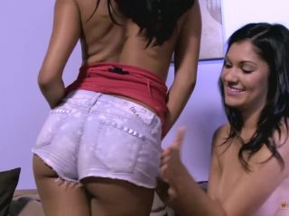 Two chocolate models try school sex in their rooming dildos for fun Ad ...