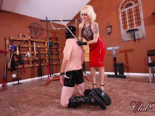 Clubdom: Dahlia Rain Canes The Pony Slave, nikki next femdom on bdsm porn