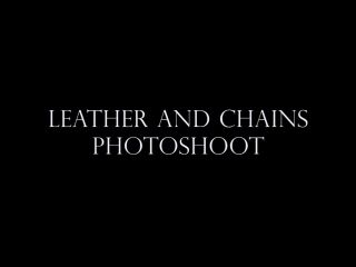Ignore – Goddess Alexandra Snow – Leather and Chains Photoshoot, little bdsm sex on fetish porn