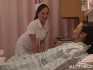 Awesome Naughty Japanese AV model is a wild nurse on the floor Video Online