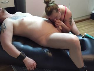 Husband Tied up for Edging and Anal Play
