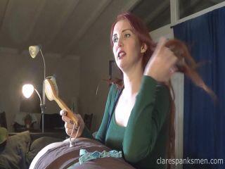 Clare Spanks Men – BONUS – Wife Gives a 3rd Bday Spanking