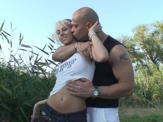 Blonde pornstar gets fucked hard in public