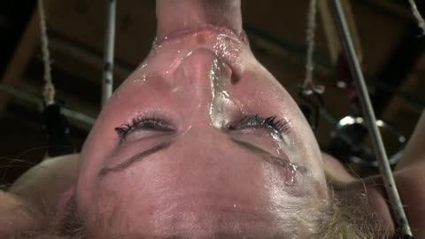 Cherie DeVille - Cherie DeVille takes on two cock for the first time ever! Deep throated, bound and fucked! (270p)