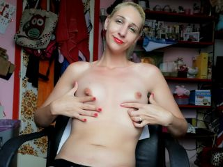 Manyvids presents cuteblonde666 — hairy tease and feet and gape