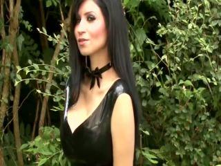 Lilly Roma - Black latex dress - dirty talk on femdom porn