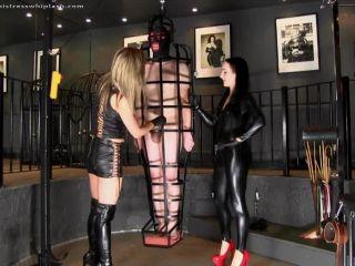 Caged Slave Desperate to Cum