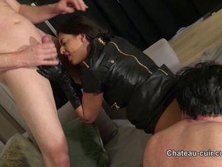 hitomi tanaka femdom big ass | Chateau-Cuir: Coco De Mal - Leather Loving Cuckold Sex Part 3 | blowjob