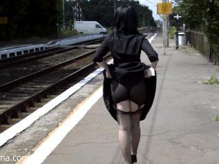 Train station fetish madness