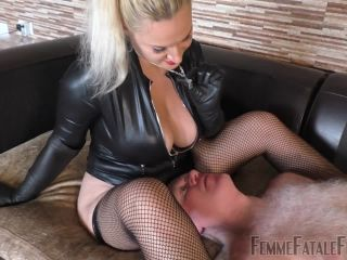 Leather Gloves – Femme Fatale Films – You Have It Coming – Part 2 – Mistress Fox on role play tall japanese femdom