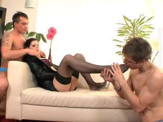 There is plenty of holes in this kinky bisex threesome