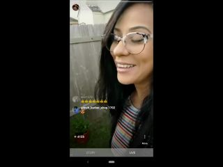Husband surprises IG Influencer while she's live. Cums on her face.