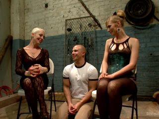 Femdom Revenge Lorelei Lee and Mona Wales Punish Misbehaved Man | slave | blonde porn ear fetish porn