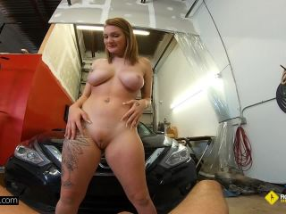 Aria Kai - Aria Kai Gets Her Car Fixed And Her Pussy Stuffed With Dick