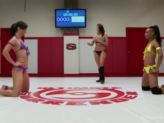 Sweaty Glistening Abs of Steel. Tricky Nikki wants to make Wenona Cum, black femdom on tattoo