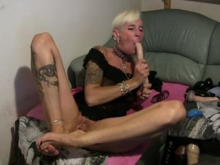 MyDirtyHobby presents lady-isabell666 in Dildo deepthroating proplapse and self fisting