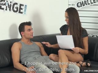 Two young neers try to fuck hot pornstar mea melone hard but both fail