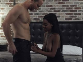 Big tit ebony slut brittney white takes a huge creampie