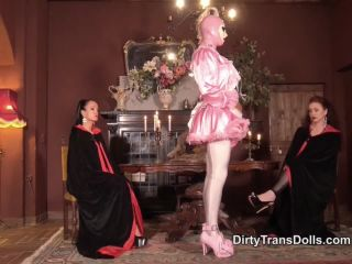 Stockings – Dirty Trans Dolls – Prissy sissy inspection – Fetish Liza and Rubber Doll Jenna, fetish toys on role play