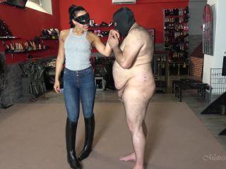 Mistress Gaia: Boot Lesson For My Wanker - gaia - handjob porn chubby fetish