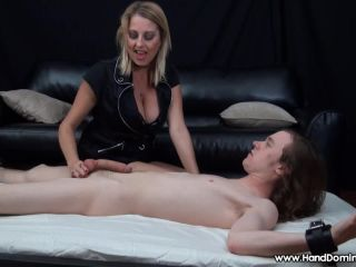 7354 - Femdom Handjob To Young 11inch Penis - Dallas Diamond