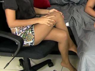 Dr. Jade Jantzen Pantyhose Sexual Re-Education – Primal's FOOTJOBS!!!