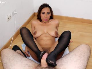 Luciarayne in Footjob Messy Cum Extraction Stockings, bbw fetish on femdom porn