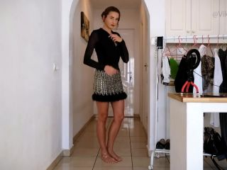 Stunning Hot Girl Stripping and trying on different Clothes