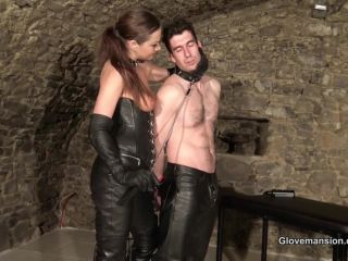 Glove Mansion Tina Kay Teased And Milked By Leatherclad Tina