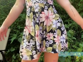 female anal orgasm solo female | Sage Avery – Fisting My Ass in a Sundress Outside | gape