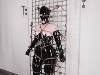 Electro latex girl