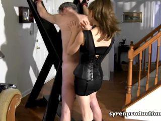 Syren Productions — Mistress Aleana – Flogged On The Cross, bdsm bondage spanking on bdsm porn