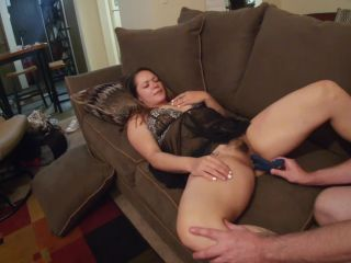 Young wife with hairy bush getting warmed up for a nice couch fucking - TuberTots
