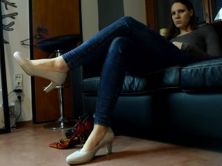Trying High Heels On Her Sexy Feet