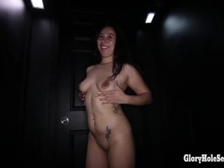 Online video Stephanie's First Glory Hole Video  03/22/2014 brunette