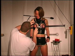 Rubber and Steel Punishment for Slave Doris