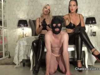 Dual Domination – Chateau-Cuir – Double smother in leather pants part 1 – Fetish Liza on blonde femdom fleshlight