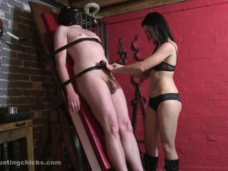 Ball Busting Chicks  Jerked Off after Brutal Whipping