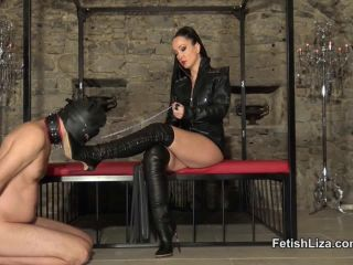Boots – Fetish Liza – Casadei boot fucking slave part 1