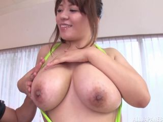 Awesome Japanese milf with big impressive tits involved into a rough a ...