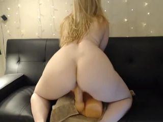 Blonde Girl Riding Dildo