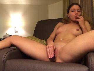 Hot Amateur Fucks Dildo With Creamy Pussy