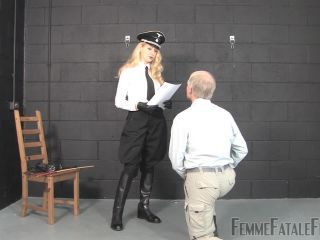 Women Spanking Men – FemmeFataleFilms – Sergeant Stripes – Mistress Eleise De Lacy, sadistic femdom on fetish porn