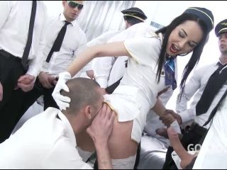 Francys Belle – (LegalPorno) – Francys Belle takes a flight with Gabgbang airlines SZ1718, 8on1, 544p, 2017 | natural tits | brunette