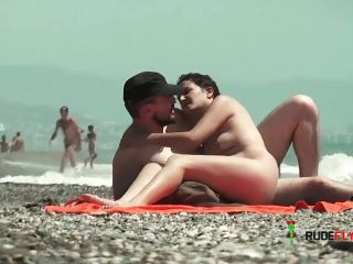 Exhibitionist Wife Lana Teasing At The Nude Strand!