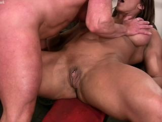 Amber Steel and Delphine - Female Muscle Lesbians