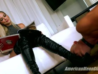Boot Worship – THE MEAN GIRLS – Making Boot Bitches Beg (Part 1) – Goddess Platinum