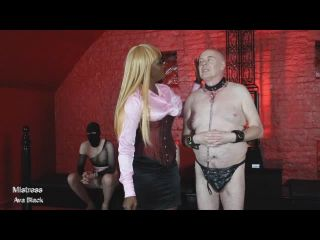 Ava Black - Caning: Party of pain for 3