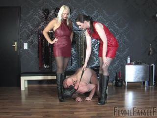 Porn online Femme Fatale Films – Stocked & Booted – Part 1. Starring Mistress Heather and Lady Victoria Valente femdom