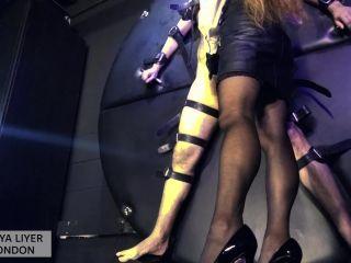 Slave Training – GODDESS MAYA LIYER – Feet and Electro Torture Wheel